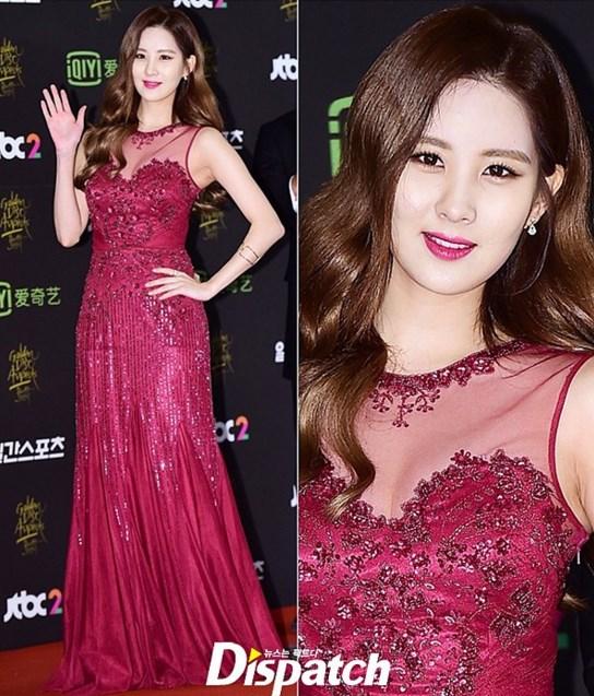 Seohyun Vestido rojo
