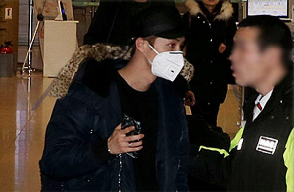 Luhan en aeropuerto de Corea Incheon